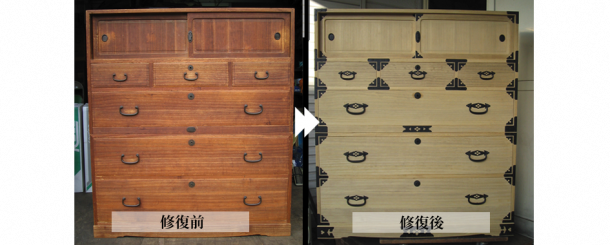 昭和初期の桐箪笥